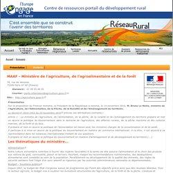 MAAF - Ministère de l'agriculture, de l'agroalimentaire et de la forêt