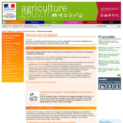Französischen Veterinärverwaltung: Animaux de compagnie