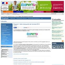 MAAF 02/05/12 ECOPHYTO 2018 - Rapport annuel 2011