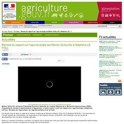 MAAF 11/06/13 Remise du rapport sur l'agro-écologie par Marion GUILLOU à Stéphane LE FOLL
