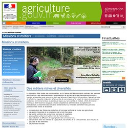 Missions et métiers du ministère de l'agriculture
