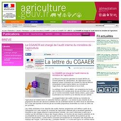 MAAF 18/04/14 Le CGAAER est chargé de l'audit interne du ministère de l'agriculture