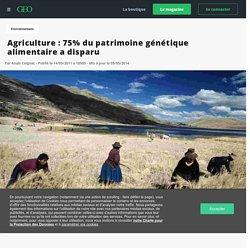 Agriculture : 75% du patrimoine génétique alimentaire a disparu