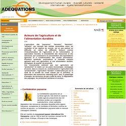 Acteurs de l'agriculture et de l'alimentation durables