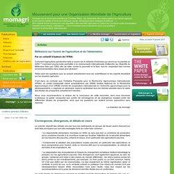 Réflexions sur l'avenir de l'agriculture et de l'alimentation