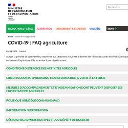 MAA 08/04/20 COVID-19 : FAQ agriculture