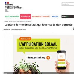 MAA 23/09/20 La plate-forme de Solaal qui favorise le don agricole
