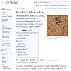 Agriculture de la Rome antique
