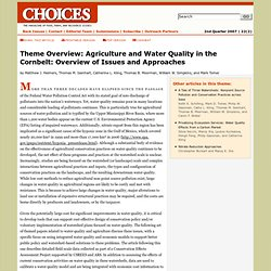 CHOICES - 2007 - Theme Overview: Agriculture and Water Quality in the Cornbelt: Overview of Issues and Approaches