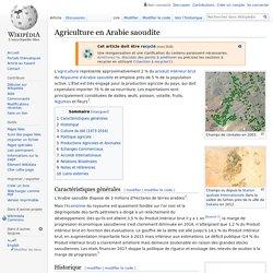 Agriculture en Arabie saoudite