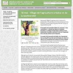 exemple journée lancement : village de l'agri urbaine