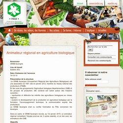 petites annonces - Petites annonces - Animateur régional en agriculture biologique