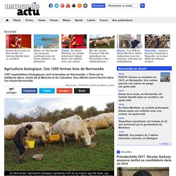 NORMANDIE ACTU 27/03/16 Agriculture biologique. Ces 1200 fermes bios de Normandie