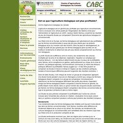 Est-ce que l'agriculture biologique est plus profitable?