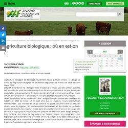 Agriculture biologique : où en est-on ?