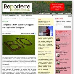 Tempête à l'INRA autour d'un rapport sur l'agriculture biologique