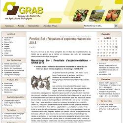 Fertilite des sols en agriculture biologique 2012