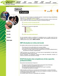 Agriculture et para agricole pearltrees - Chambre d agriculture offre d emploi ...
