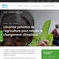 UNENVIRONMENT 04/12/19 L'énorme potentiel de l'agriculture pour ralentir le changement climatique
