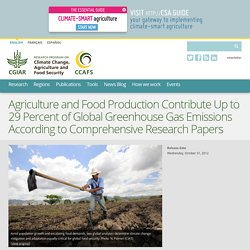 Agriculture and Food Production Contribute Up to 29 Percent of Global Greenhouse Gas Emissions According to Comprehensive Research Papers