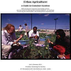 Urban Agriculture: A Guide to Container Gardens