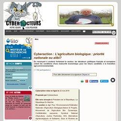 L'agriculture biologique : priorité nationale ou alibi? cyberaction