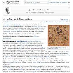 Agriculture de la Rome antique