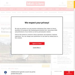 Agriculture connectée et découverte des filières au lycée - 22/03/2019 - midilibre.fr