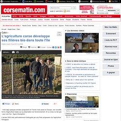 CORSE MATIN 10/04/12 L'agriculture corse développe ses filières bio dans toute l'île