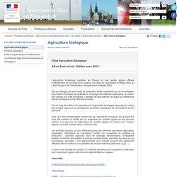 PREFECTURE D EURE ET LOIR - MARS 2015 - Fiche Agriculture Biologique - AB en Eure et Loir