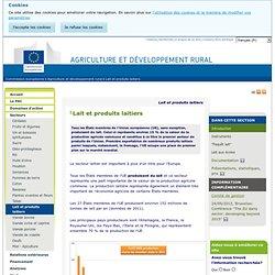 EUROPE - Dossier lait et produits laitiers.