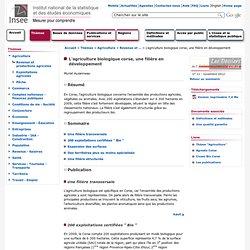 INSEE - NOV 2012 - L'agriculture biologique corse, une filière en développement
