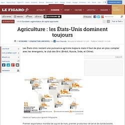 Conjoncture : Agriculture : les États-Unis dominent toujours