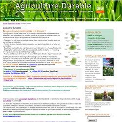 Réseau agriculture durable » Evaluer la durabilité