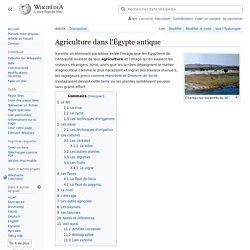 Agriculture dans l'Égypte antique