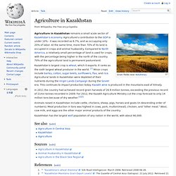Agriculture in Kazakhstan