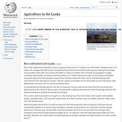 Agriculture in Sri Lanka