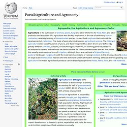 Portal:Agriculture and Agronomy