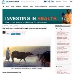 One health economics for healthy people, agriculture and environment