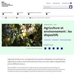 Agriculture et environnement : les dispositifs