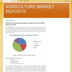 AGRICULTURE MARKET REPORTS: Global Farm Equipment Market is expected to touch $200 Billion By 2020
