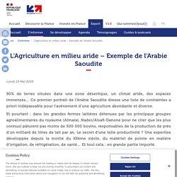 L'Agriculture en milieu aride – Exemple de l'Arabie Saoudite