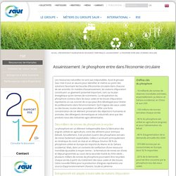 SAUR 09/02/17 Assainissement : le phosphore entre dans l'économie circulaire