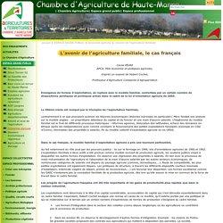 L'avenir de l'agriculture familiale - Chambre d'agriculture de Haute-Marne