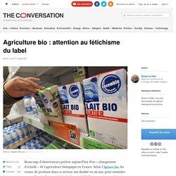 L'évolution de l'agriculture bio en France