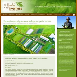 Les Jardins d'Inverness - Agriculture locale - Formations