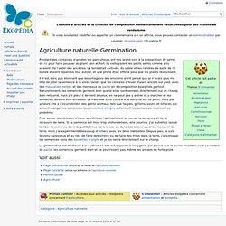 Ag naturelle: Germination en boulette d'argile