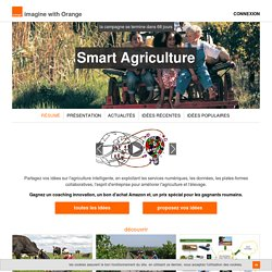 Smart Agriculture - imagine with orange