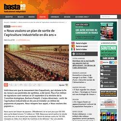 « Nous voulons un plan de sortie de l'agriculture industrielle en dix ans » par Collectif 15 septembre 2020