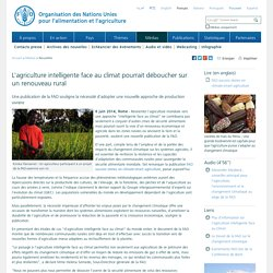 FAO - JUIN 2014 - L'agriculture intelligente face au climat pourrait déboucher sur un renouveau rural